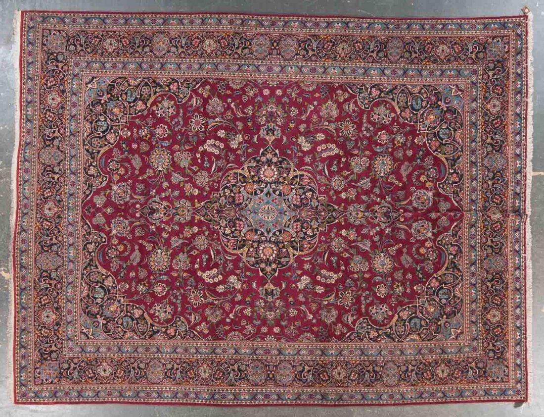 Antique Keshan carpet, approx. 10 x 14.4