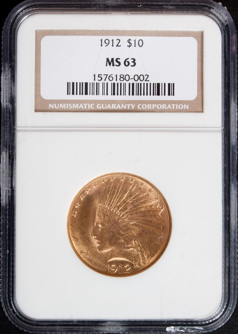 United States Indian Head type gold eagle, 1912