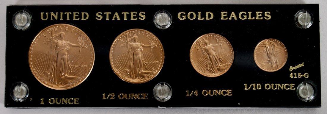 U.S. American Eagle gold bullion set, 1986