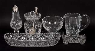 Assorted Waterford crystal table articles