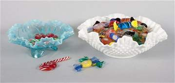 Large assortment of Murano glass candy & charms