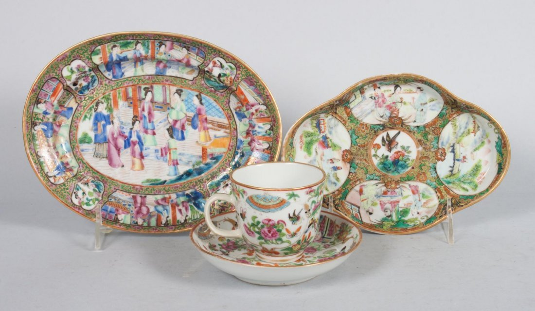 Assorted Chinese Export Famille Rose articles
