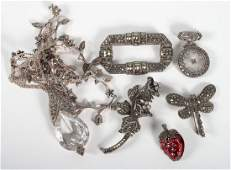 Group of Judith Jack sterling  marcasite jewelry