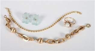 Two ladys 14K gold bracelets