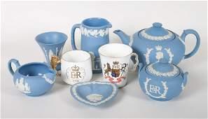 Eight pieces of Wedgwood & Coronation china