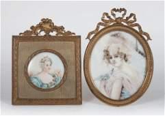 Two Continental School portrait miniatures