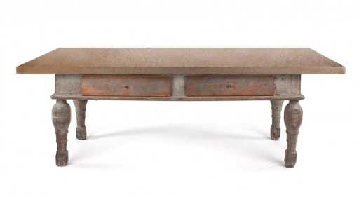 French Marble Top Farm Table - Marble top farm table