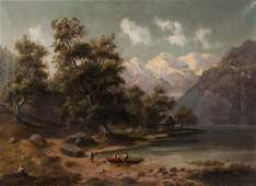 Continental School, e. 20th c., Landscape, oil
