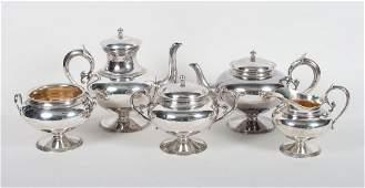 Gorham Aesthetic style silver coffee & tea set