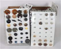 Large antique and vintage button collection