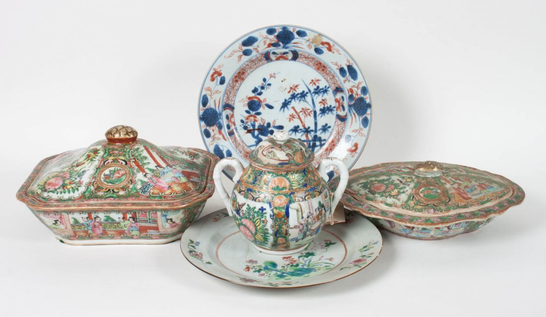Five assorted Chinese Export porcelain articles