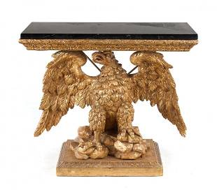 George II style carved giltwood console table