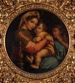 Italian School Madonna della seggiola oil