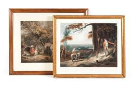 Two 19th c English hand colored engravings