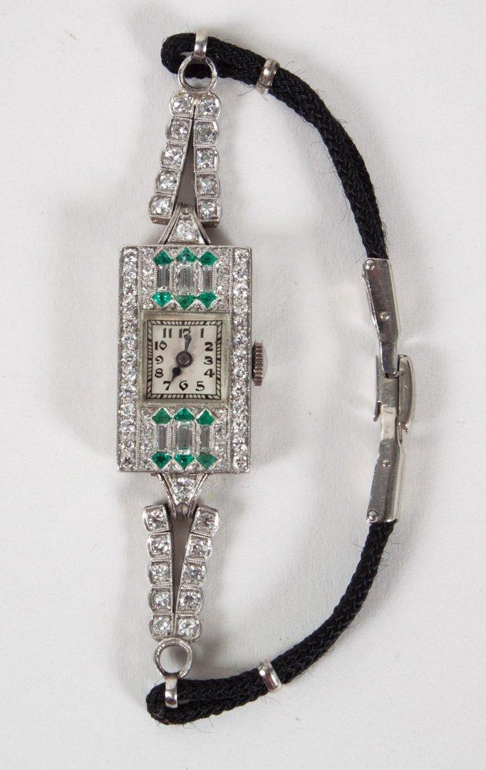 Lady's Gruen Art Deco platinum & diamond watch