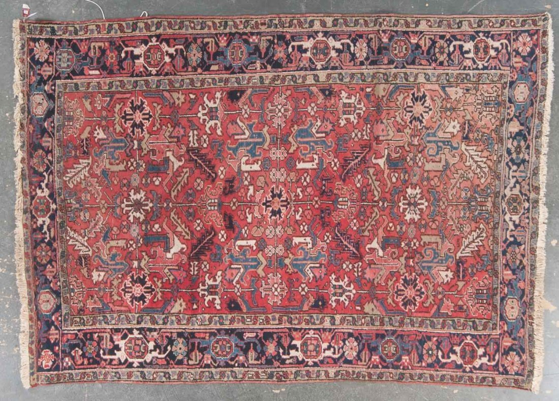 Antique Herez rug, approx. 7.5 x 10.6