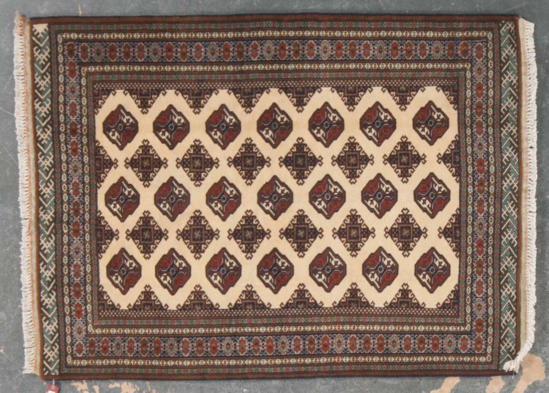 Persian Turkemon rug, approx. 4.8 x 6.1