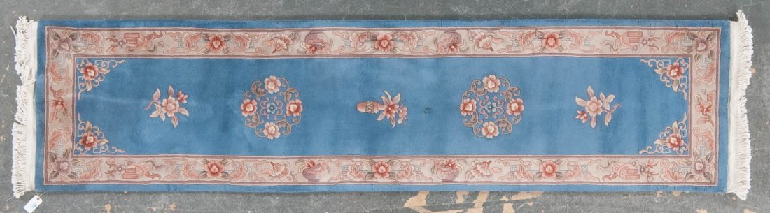 90 line Chinese rug, approx. 2.6 x 10