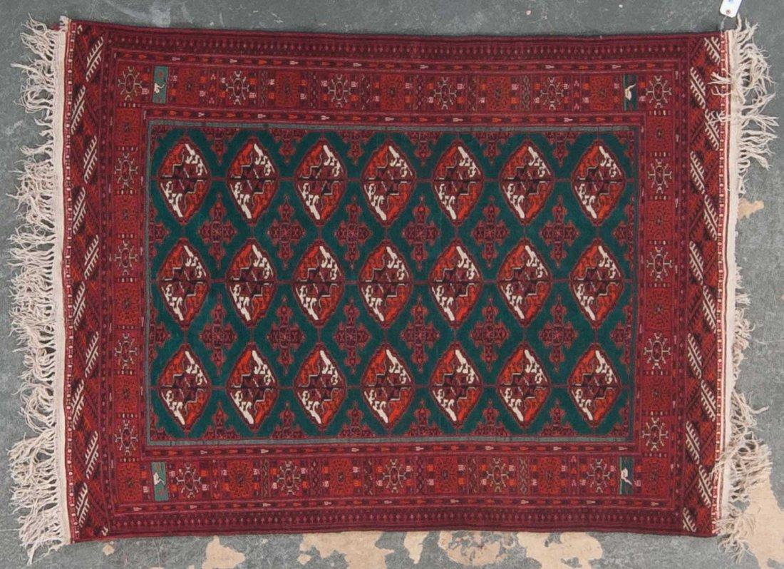 Persian Turkemon rug, approx. 4.2 x 5.6