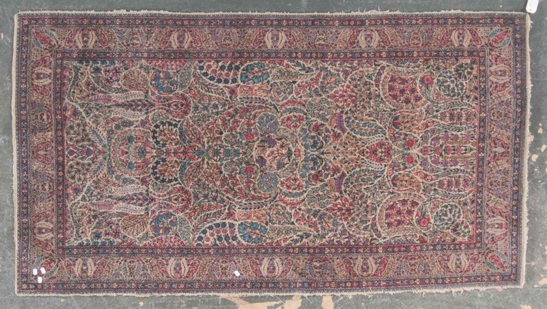 Antique Lavar Kerman rug, approx. 4.1 x 7.4