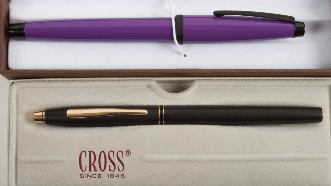 Cross platinum roller ball pen and two Cross pens - 2