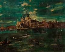 Attributed to Filippo de Pisis. Venice, oil