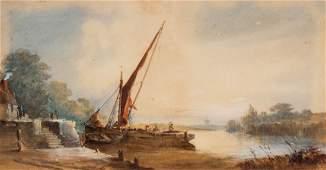 William Earp Coastal Landscape watercolor