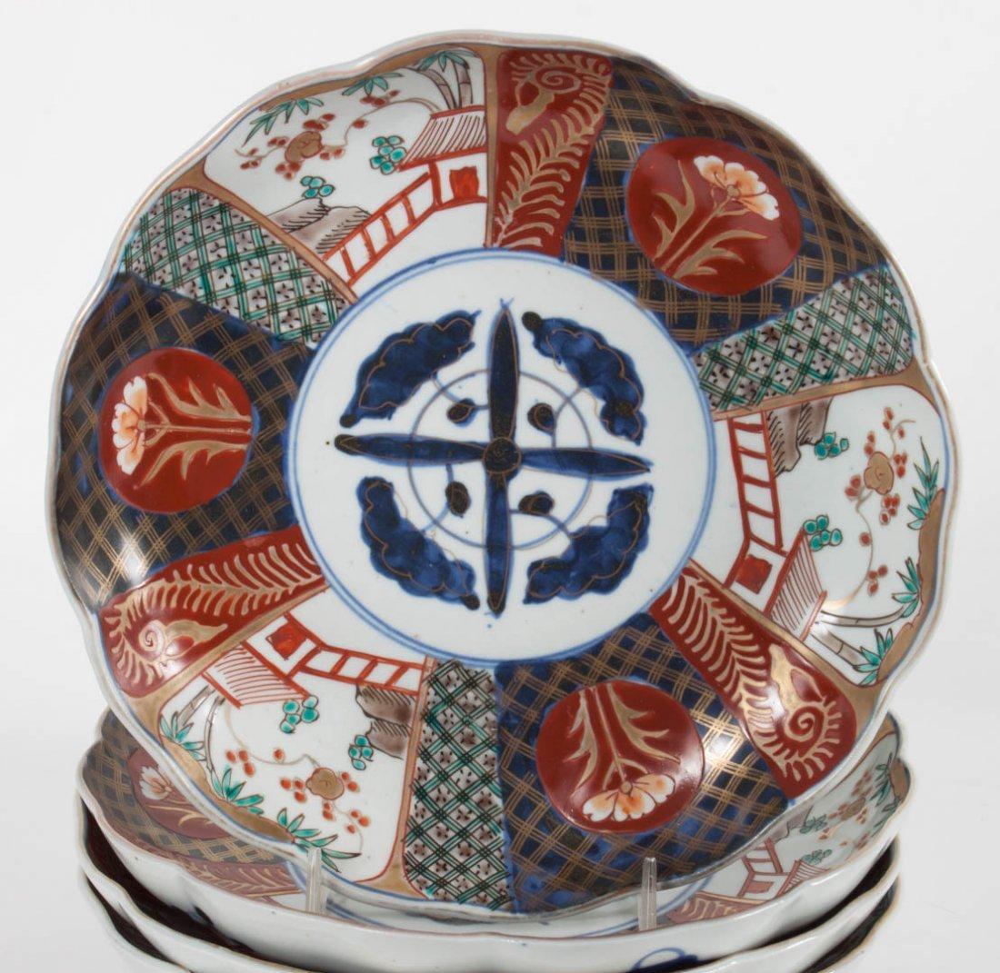 Five Japanese Imari porcelain table objects - 4