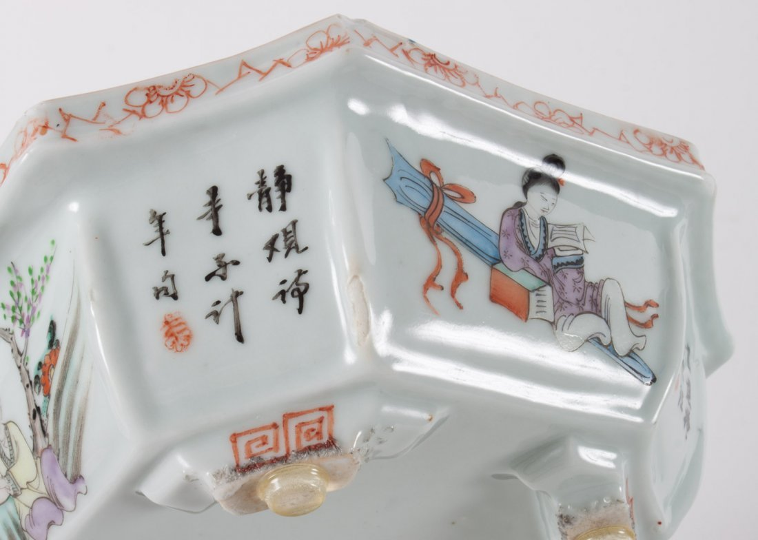 Chinese Export porcelain bowl and bulb planter - 7