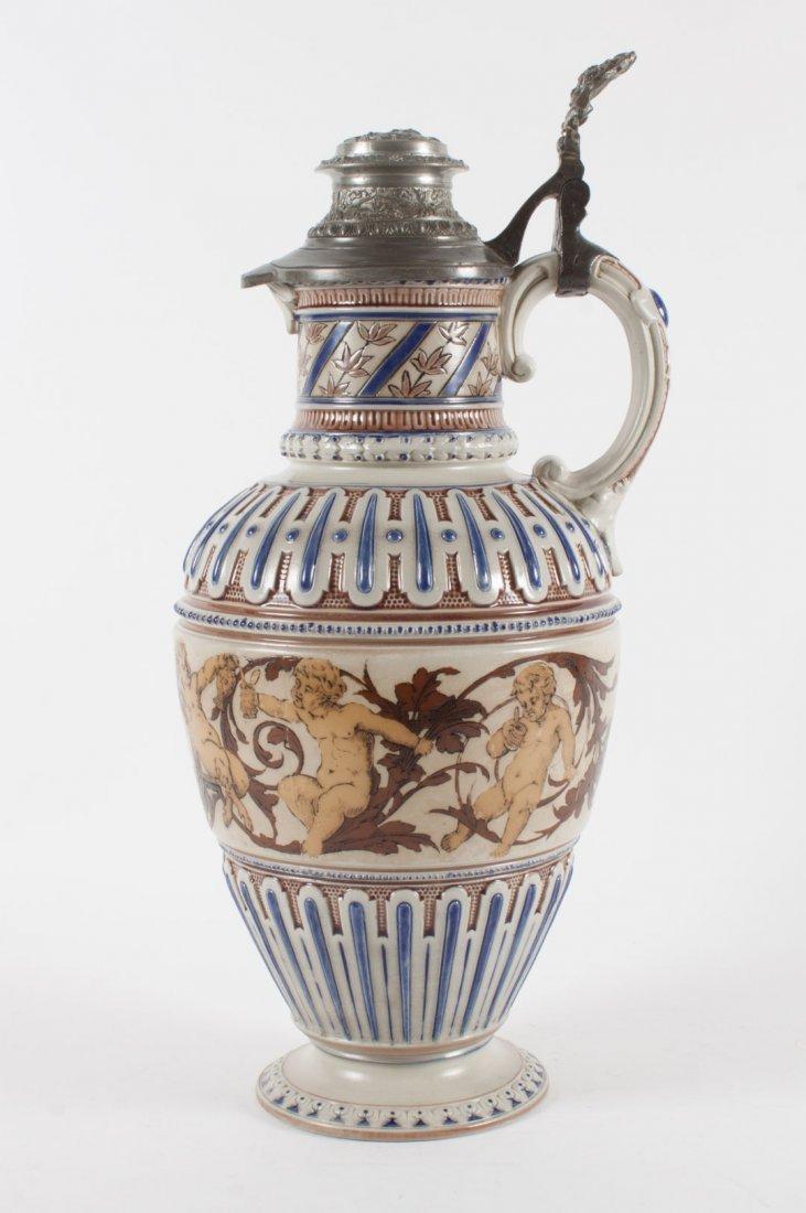 Mettlach salt glazed stoneware flagon - 2