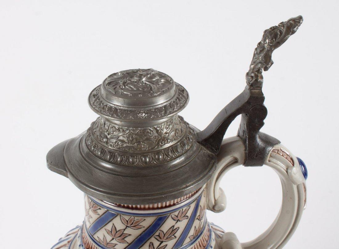 Mettlach salt glazed stoneware flagon - 3
