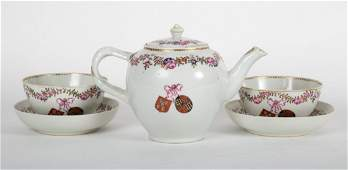 Chinese Export Famille Rose porcelain teaware