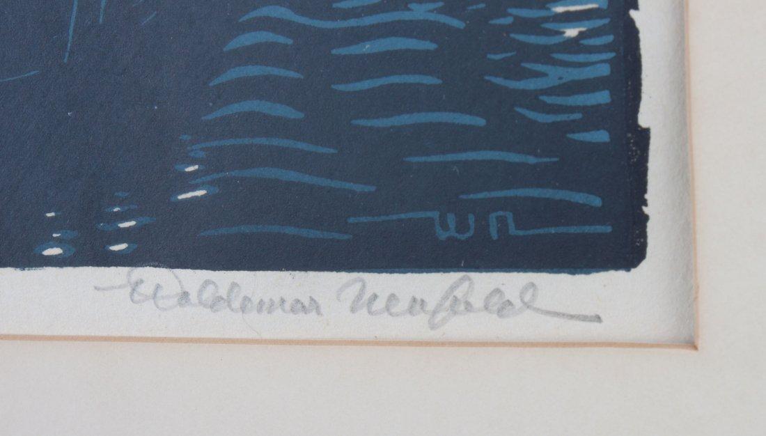 Woldemar Neufeld. Three Tugboat theme woodcuts - 3