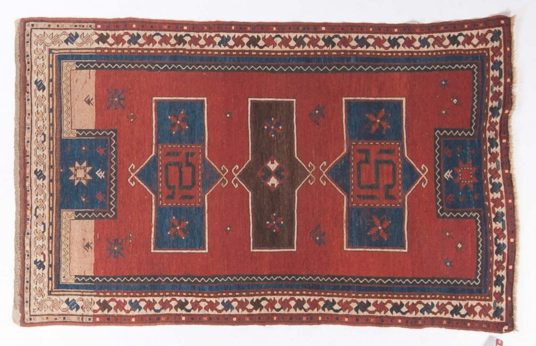 Antique Kazak rug, approx. 4 x 6.6