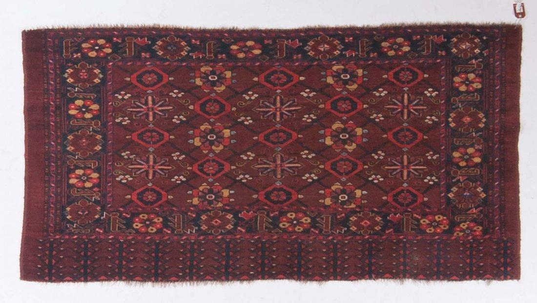 Antique Beshir rug, approx. 3.2 x 6.2