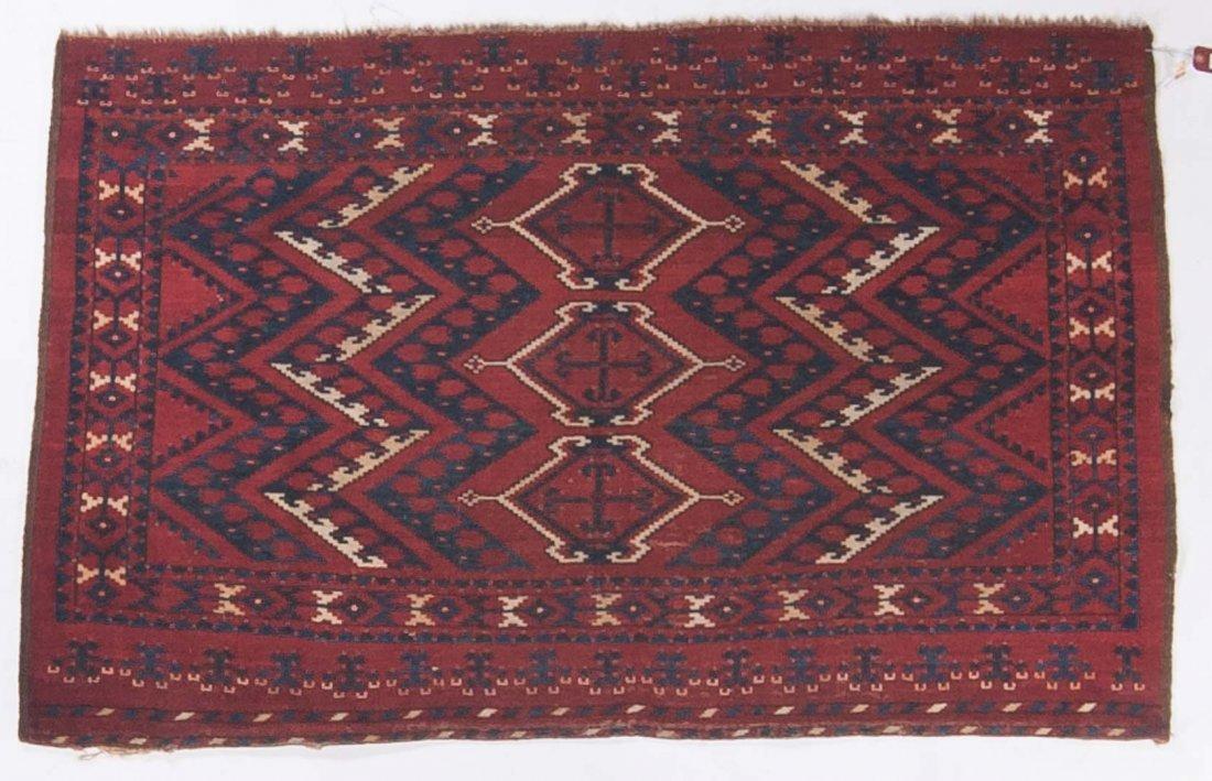 Antique Beshir rug, approx. 3.3 x 5.3
