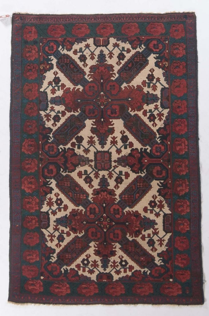 Antique Zeichor Kuba rug, approx. 3.10 x 5.11