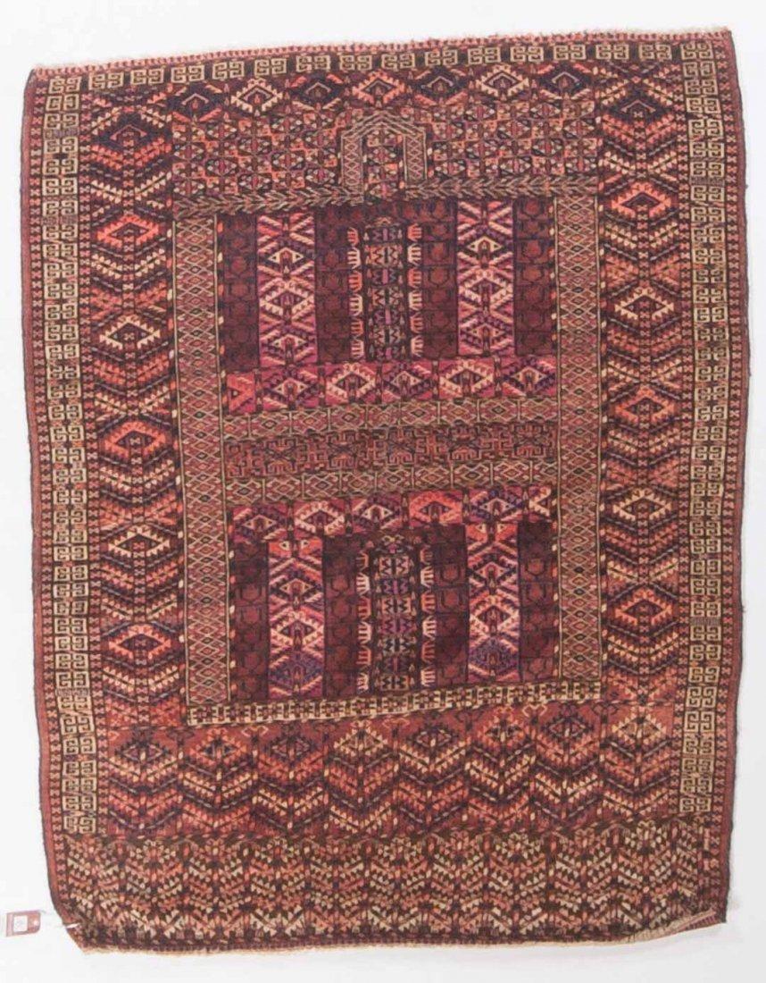 Antique Hatchli prayer rug, approx. 4.1 x 5