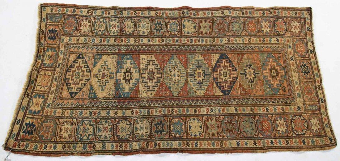 Antique Soumak rug, approx. 2.5 x 4.8