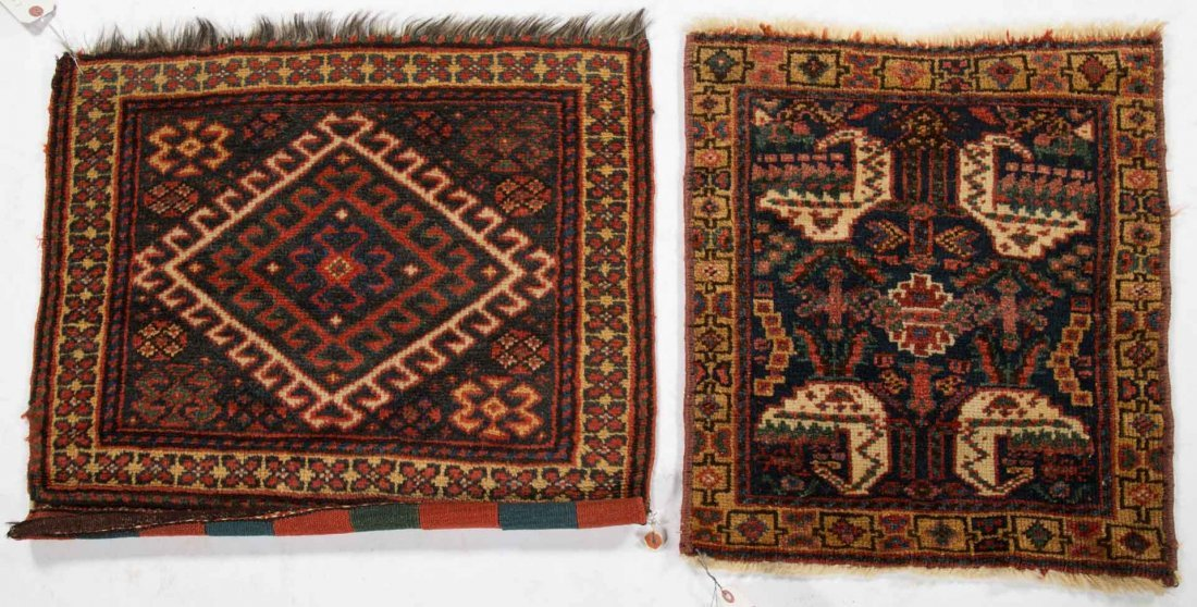 Two Antique Kashkai scatter rugs, Persia