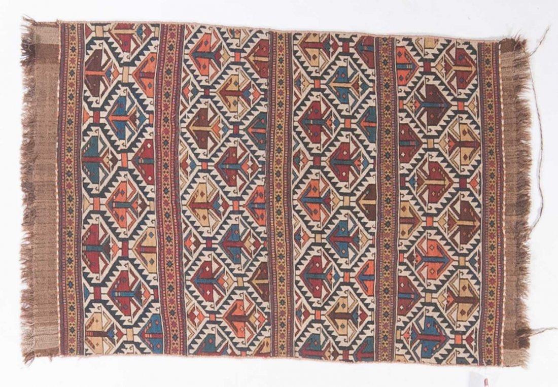 Antique Soumak rug, approx. 3.5 x 5.3
