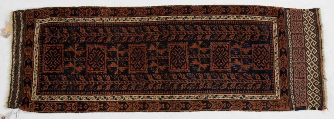 Fine antique Belouchistan rug, approx. 1.7 x 4.4
