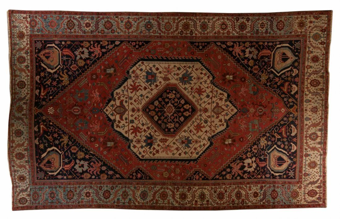 Antique Serapi carpet, approx. 11.6 x 18.3