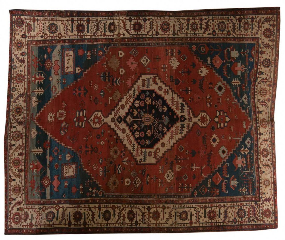 Antique Serapi carpet, approx. 11.3 x 14.9