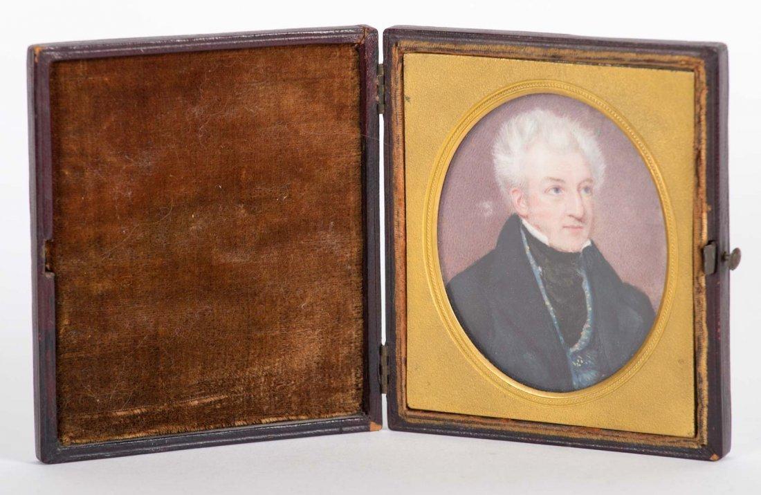 English School, 19th century. Portrait miniature