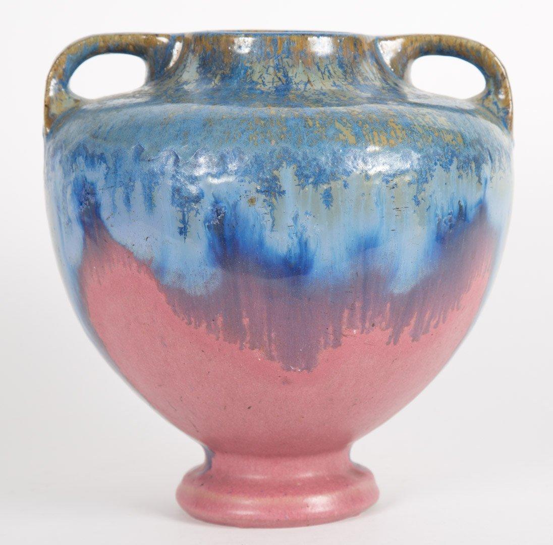 Fulper pottery two-handled vase