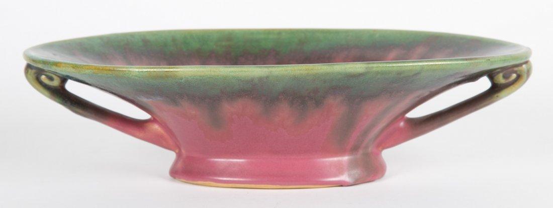 Fulper pottery two-handled rose bowl