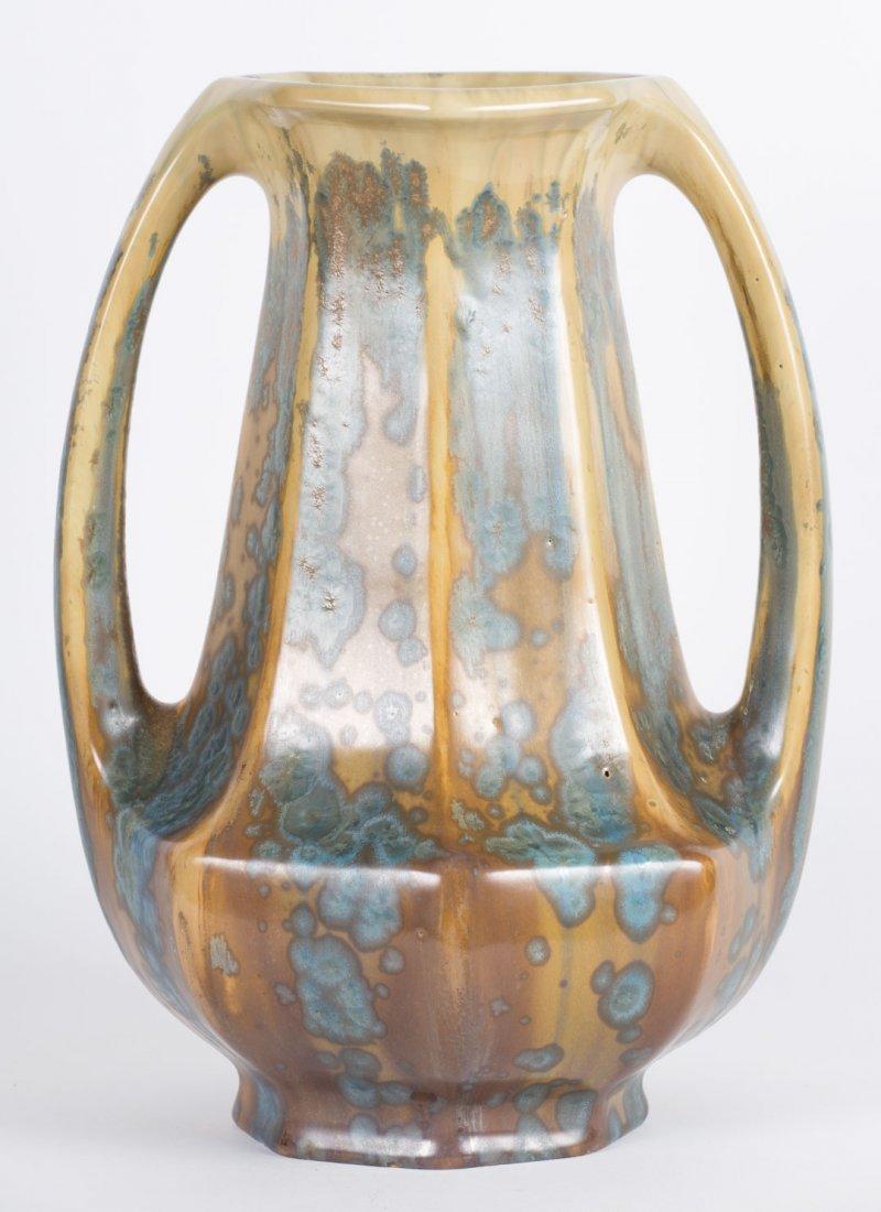 Pierrefonds crystalline glazed vase