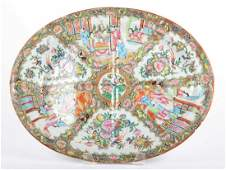 Chinese Export Rose Medallion porcelain platter