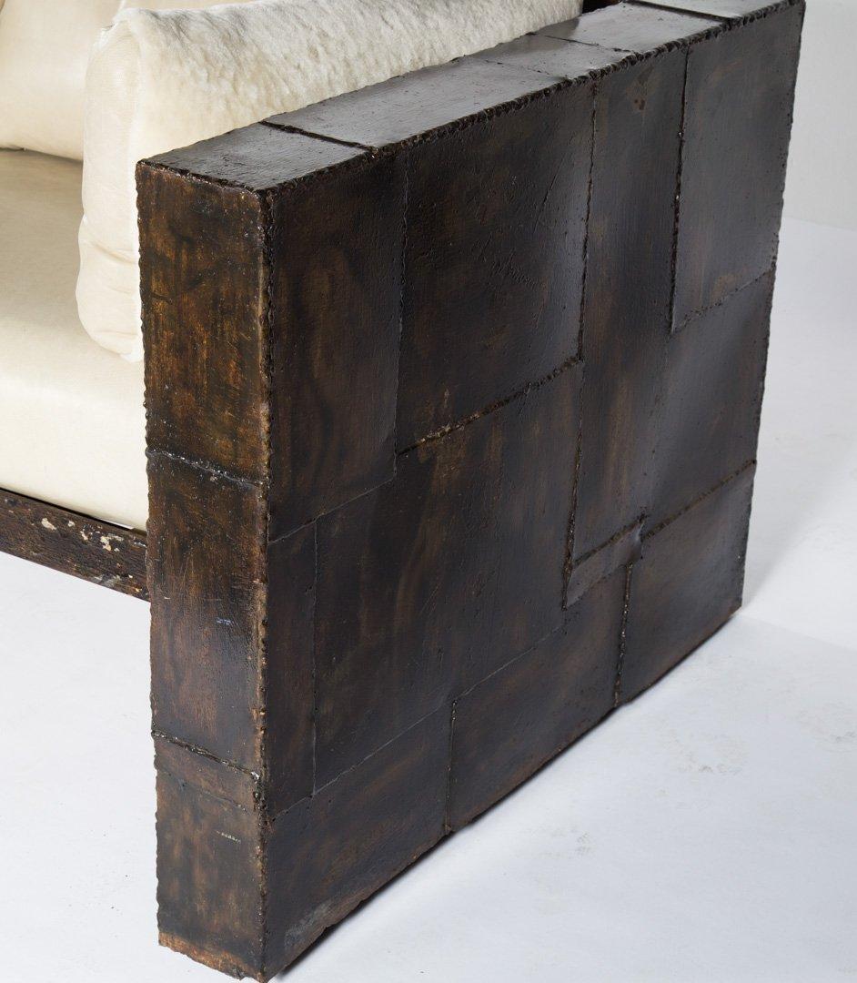 "Paul Evans welded steel ""Patchwork"" sofa - 3"
